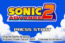 Sonic Advance 2 title screenshot