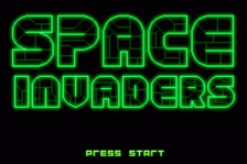 Space Invaders title screenshot
