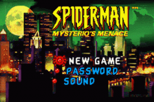 Spider-Man - Mysterio's Menace title screenshot