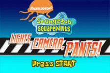 SpongeBob SquarePants - Lights, Camera, Pants! title screenshot