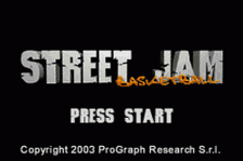 Street Jam Basketball title screenshot