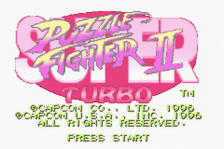Super Puzzle Fighter II Turbo title screenshot
