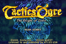 Tactics Ogre - The Knight of Lodis title screenshot