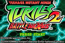 Teenage Mutant Ninja Turtles 2 - Battle Nexus title screenshot