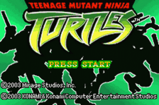 Teenage Mutant Ninja Turtles title screenshot
