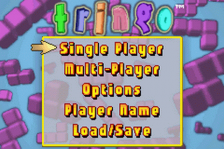 Tringo title screenshot