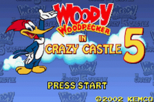 Woody Woodpecker in Crazy Castle 5 title screenshot