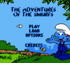 Adventures of the Smurfs, The title screenshot