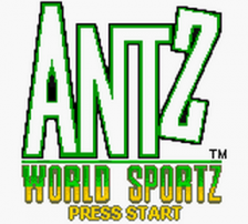 Antz World Sportz title screenshot