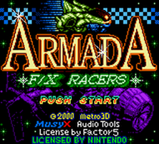 Armada - FX Racers title screenshot