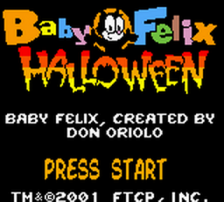 Baby Felix - Halloween title screenshot