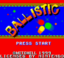 Ballistic title screenshot