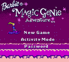 Barbie - Magic Genie Adventure title screenshot