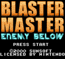 Blaster Master - Enemy Below title screenshot
