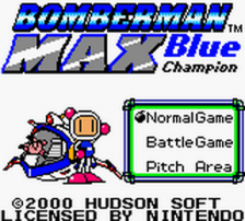 Bomberman Max - Blue Champion title screenshot