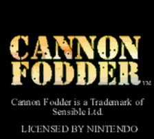Cannon Fodder title screenshot