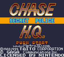 Chase H.Q. - Secret Police title screenshot