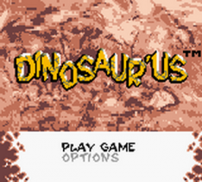 Dinosaur'us title screenshot
