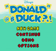 Donald Duck - Goin' Quackers title screenshot