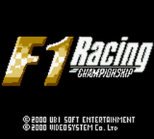 F1 Racing Championship title screenshot