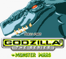 Godzilla - The Series - Monster Wars title screenshot