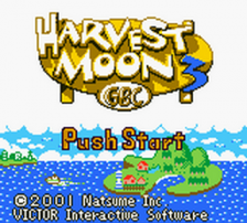 Harvest Moon 3 GBC title screenshot