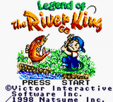Legend of the River King GB title screenshot