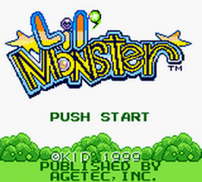 Lil' Monster title screenshot
