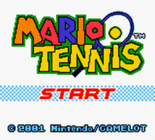 Mario Tennis title screenshot