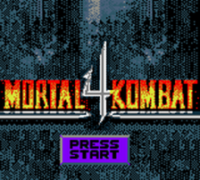 Mortal Kombat 4 title screenshot
