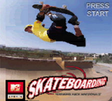 MTV Sports - Skateboarding featuring Andy MacDonald title screenshot