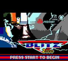 NFL Blitz 2000 title screenshot
