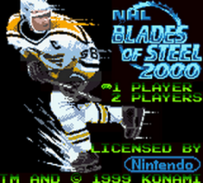 NHL Blades of Steel 2000 title screenshot