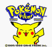 Pokemon - Yellow Version title screenshot