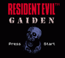 Resident Evil Gaiden title screenshot