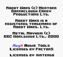 Robot Wars - Metal Mayhem title screenshot