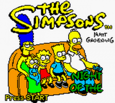 Simpsons, The - Night of the Living Treehouse of Horror title screenshot