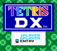 Tetris DX title screenshot