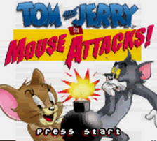Tom and Jerry in Mouse Attacks! title screenshot