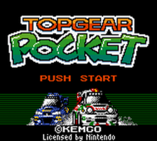 Top Gear Pocket title screenshot