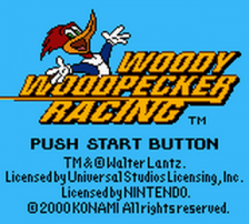 Woody Woodpecker Racing title screenshot