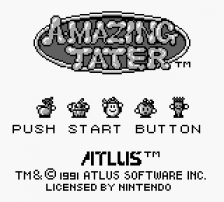 A-mazing Tater title screenshot