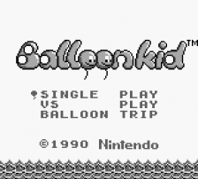 Balloon Kid title screenshot