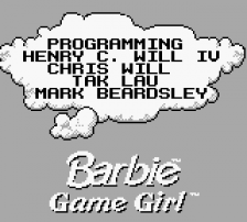 Barbie - Game Girl title screenshot