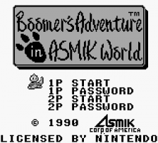 Boomer's Adventure in ASMIK World title screenshot