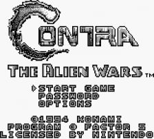 Contra - The Alien Wars title screenshot