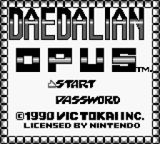 Daedalian Opus title screenshot