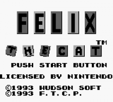 Felix the Cat title screenshot
