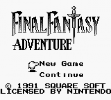 Final Fantasy Adventure title screenshot