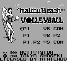 Malibu Beach Volleyball title screenshot